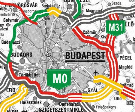 budapest térkép m0 Vecsést is kedvezőtlenül érintheti az M0 s útdíj bevezetése  budapest térkép m0